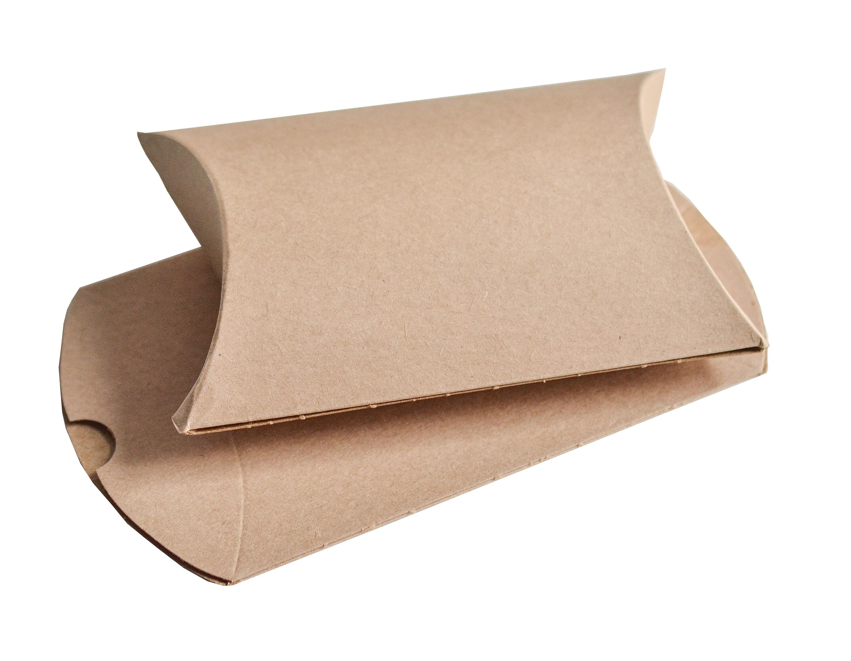 162 x 114 x 35mm Kraft Pillow Boxes