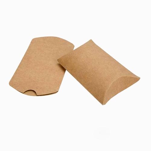 220 x 110 x 35mm Kraft Pillow Boxes