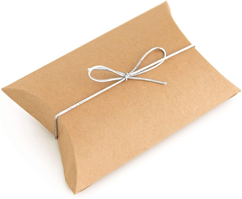 220 x 110 x 35mm Kraft Pillow Boxes - 2