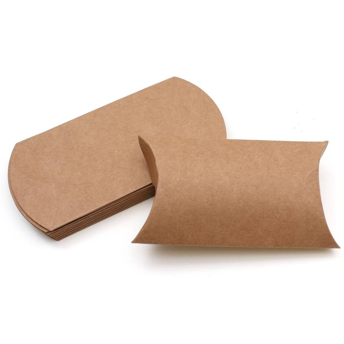229 x 162 x 35mm Kraft Pillow Boxes