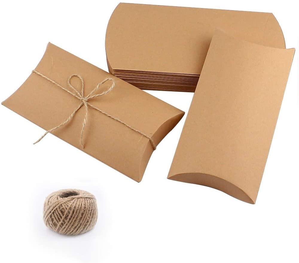229 x 162 x 35mm Kraft Pillow Boxes - 2