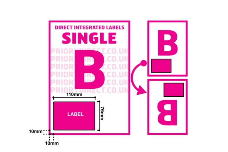 Single Integrated Label - Style B
