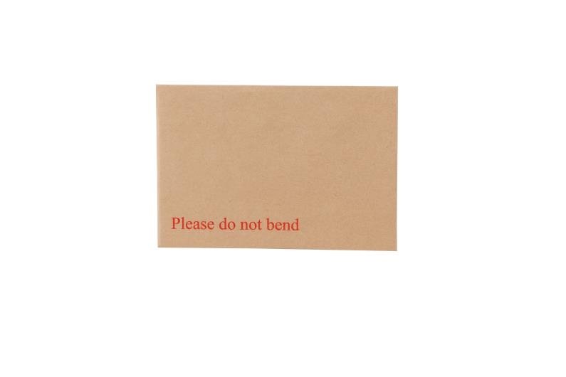 163 x 238mm Board Backed Envelopes - Manilla Printed
