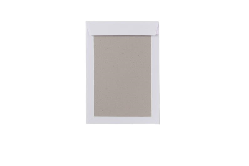 A4 Board Backed Envelopes With Window - White - 3