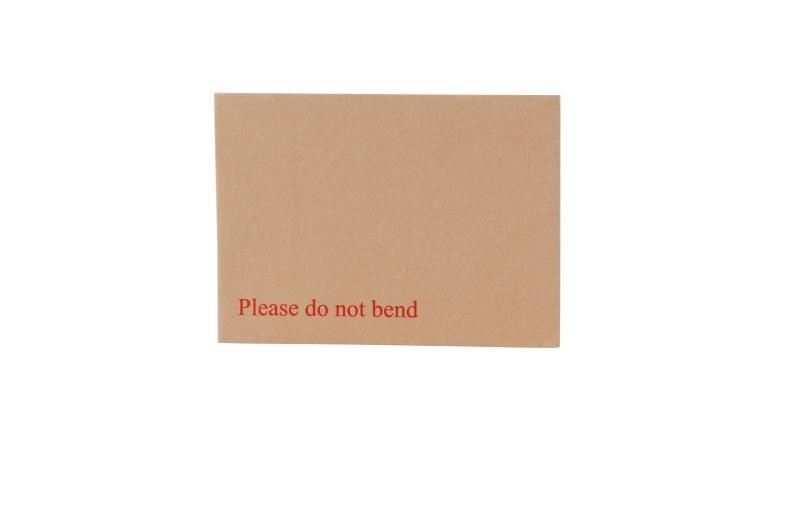 178 x 241mm Board Backed Envelopes - Manilla Printed