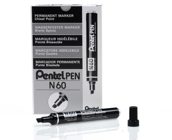 Black Pentel Marker - Chisel Tip - 2