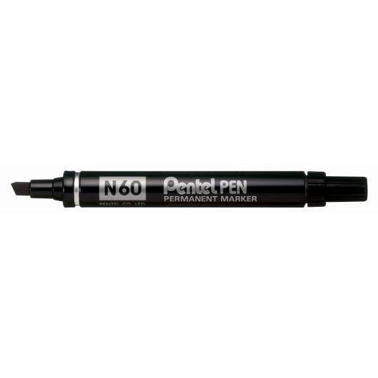 Black Pentel Marker - Chisel Tip - 3