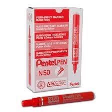 Red Pentel Marker - Bullet Tip - 2