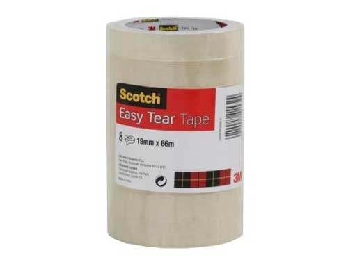 25mm x 66m Scotch Easy Tear Tape - 2