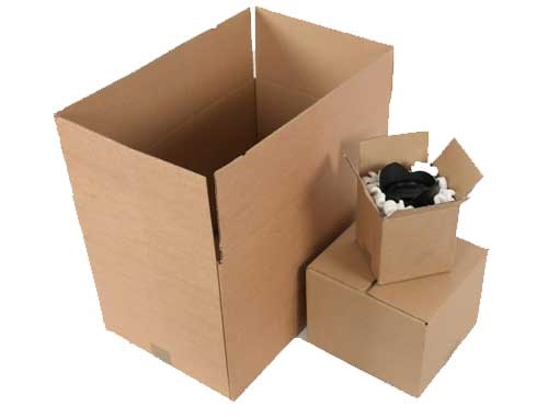 305 x 305 x 305mm Double Wall Cardboard Boxes - 3