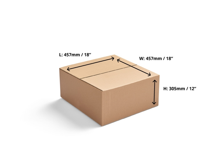 457 x 457 x 305mm  Double Wall Cardboard Boxes