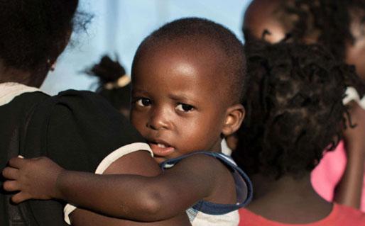 Save the Children baby shot